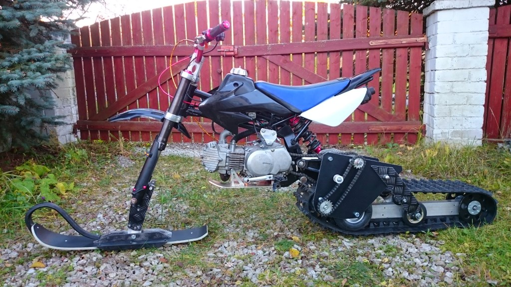 Зимний мотоцикл своими руками 7